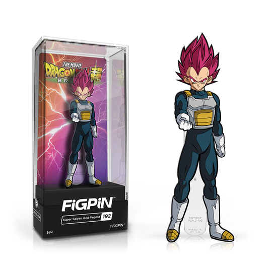 Dragon Ball Super: Broly FiGPiN Enamel Pin Super Saiyan God Vegeta [192]