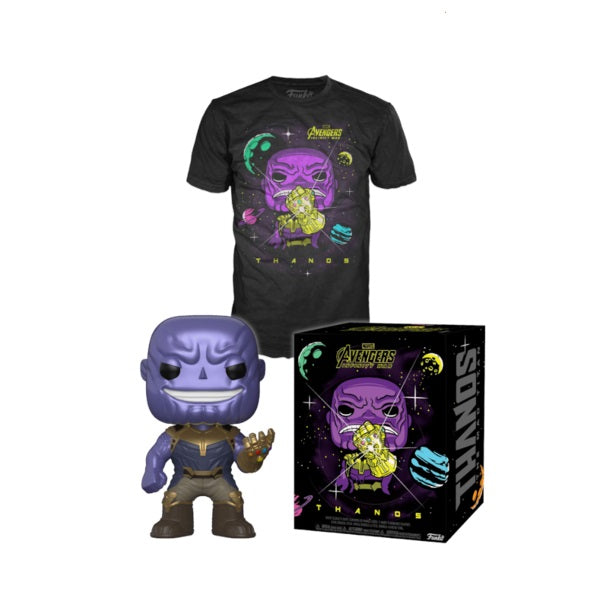 Marvel Pop! Vinyl Figure Infinity War Thanos Metallic Gauntlet & T-Shirt - Medium