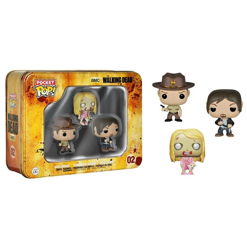 The Walking Dead Pocket Pop! 3-Pack Tin [Daryl, Rick and Teddy Bear Walker]