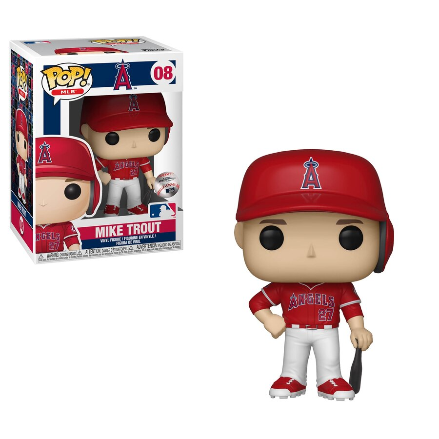 MLB Pop! Vinyl Figure Mike Trout (New Jersey) [LA Angels] [08] - Fugitive Toys