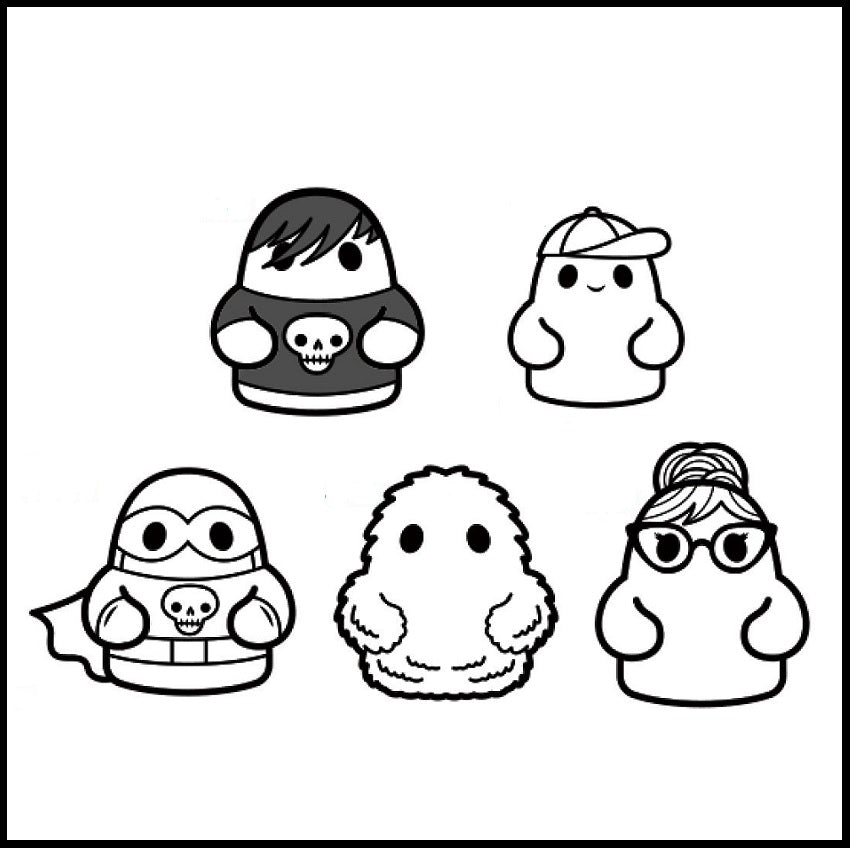 Bimtoy Tiny Ghost Pins [ECCC 5 Pack]