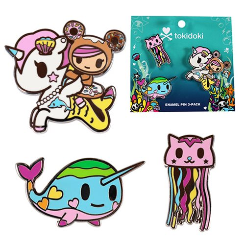 Tokidoki Sea Punk Enamel Pin 3-Pack