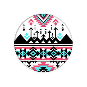 PopSockets Designs: Coral, Teal & Black Tribal Pattern