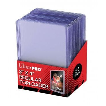 "Ultra Pro 3"" x 4"" Clear Regular Toploader (25 pieces) - Fugitive Toys"