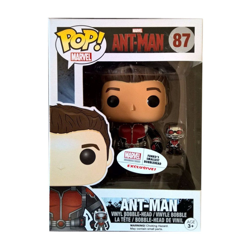 Marvel Ant-Man Pop! Vinyl Figure Unmasked Ant-Man w/ Mini Ant-Man [Exclusive]
