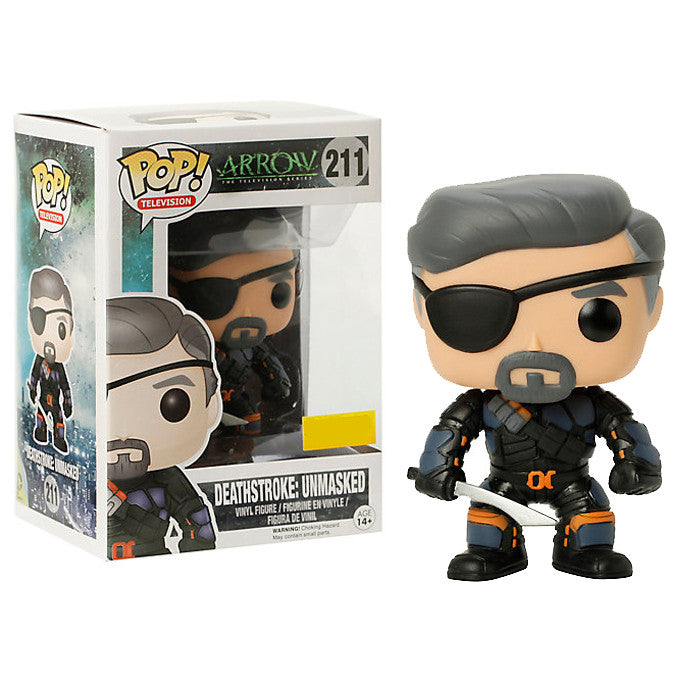 Arrow The Television Series Pop! Vinyl Figure Unmasked Deathstroke [Exclusive] - Fugitive Toys
