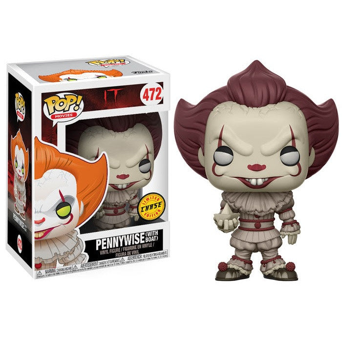 Movies Pop! Vinyl Figure Pennywise with Boat (Chase) [It] - Fugitive Toys