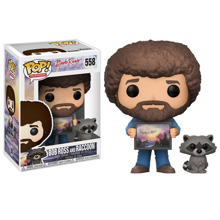 The Joy of Painting Pop! Vinyl Figure Bob Ross and Raccoon [558]