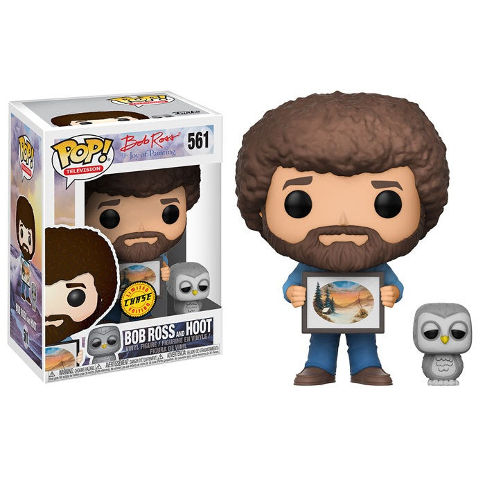 The Joy of Painting Pop! Vinyl Figure Bob Ross and Hoot (Chase) [561] - Fugitive Toys