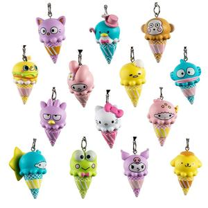 Kidrobot Hello Sanrio Ice Cream Cone Vinyl Keychain Series: (1 Blind Box)