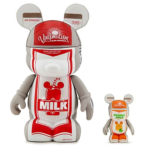 Disney Urban Vinylmation Milk & Orange Juice Cartons [#7]