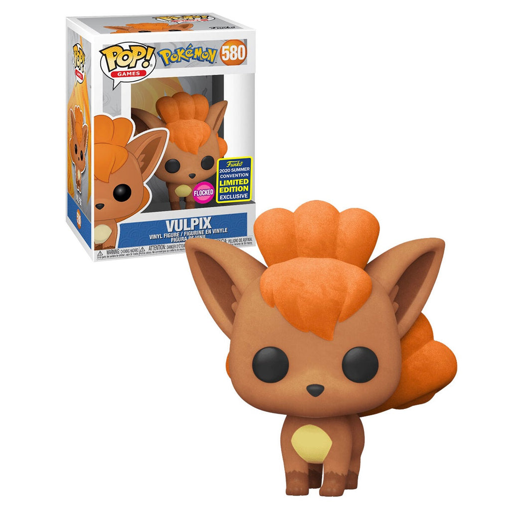 Pokemon Pop! Vinyl Figure Vulpix Flocked (2020 Summer Convention Exclusive) [580]