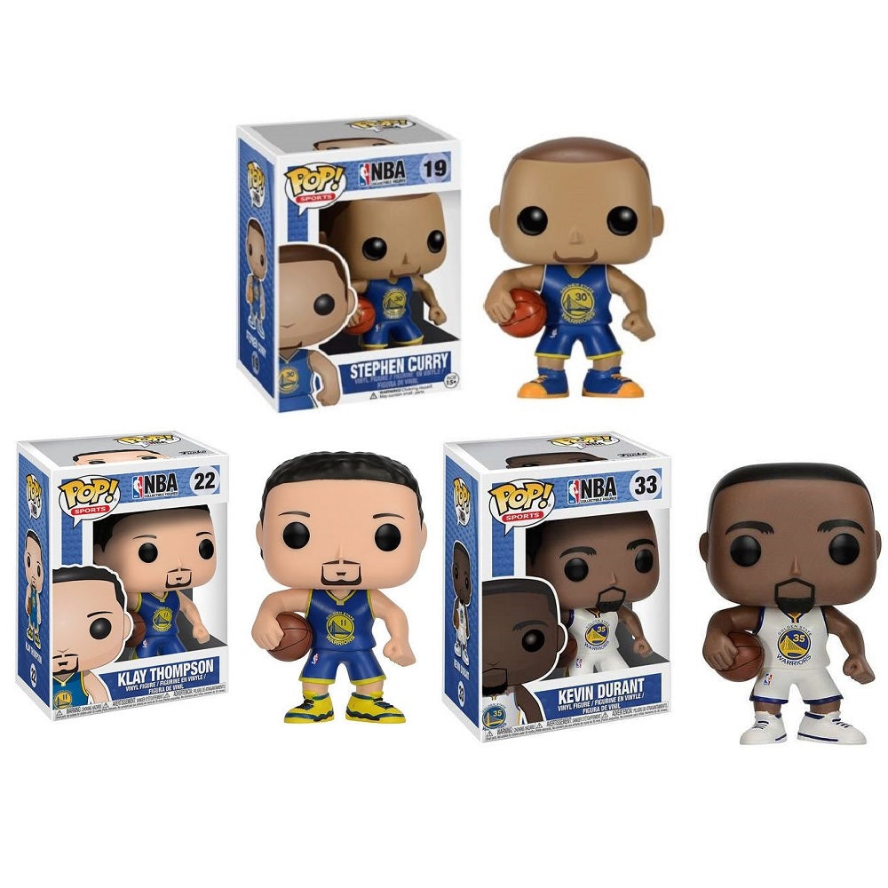 NBA Golden State Warriors 3 Pack Pop Vinyl [Curry, Durant, Thompson]