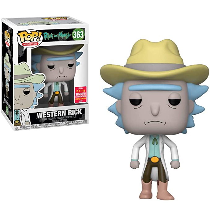 Rick and Morty Pop! Vinyl Figure Western Rick (Summer 2018 Convention) [363]