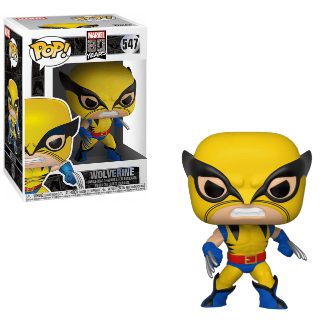 Marvel 80th Pop! Vinyl Figure First Appearance Wolverine [547]