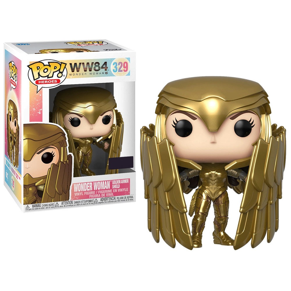 WW84 Heroes Pop! Vinyl Figure Wonder Woman Golden Armor Shield [329]