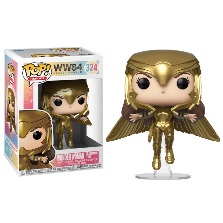Wonder Woman 1984 Pop! Vinyl Figure Wonder Woman Golden Armor Flying [324] - Fugitive Toys