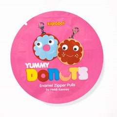 Kidrobot Yummy Donuts Enamel Zipper Pulls by Heidi Kenney: (1 Blind Pack)