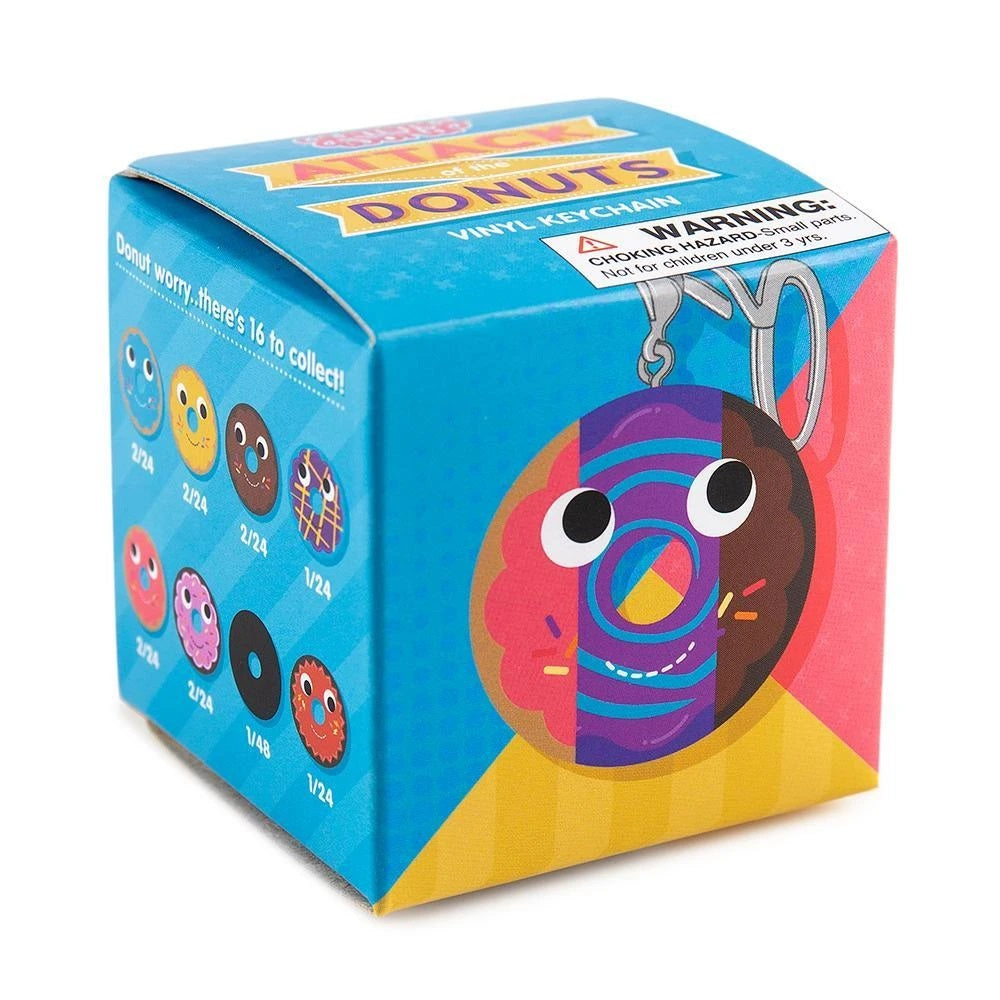Kidrobot Yummy World Attack of the Donuts Vinyl Keychain Series: (1 Blind Box) - Fugitive Toys