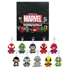 Kidrobot Marvel Munny Zipper Pulls Series 2: (Case of 20) - Fugitive Toys