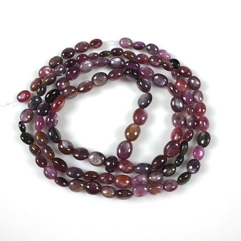 MULTI SAPPHIRE Gemstone Loose Beads : 149.50cts Natural Untreated Sheen Sapphire Gemstone 26