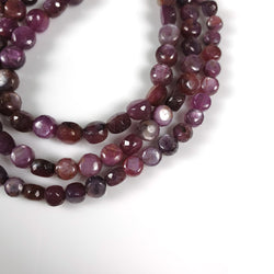 MULTI SAPPHIRE Gemstone Loose Beads : 190.50cts Natural Untreated Sheen Sapphire Gemstone 25