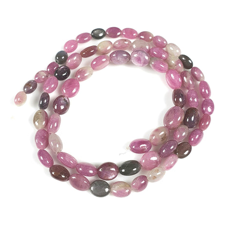 MULTI SAPPHIRE Gemstone Loose Beads : 77.00cts Natural Untreated Sheen Sapphire Gemstone 16.2