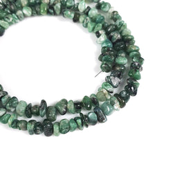 GREEN EMERALD Gemstone Loose Beads : 90.00cts Natural Untreated EMERALD Gemstone 19