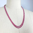 "Natural SHADED FACETED Pink SAPPHIRE Beads Necklace : Untreated Unheated Genuine 2.5mm-5mm Sapphire Beads 8.50""-8.75"" 2 Lines Wholesale lot"