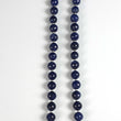 "BLUE SAPPHIRE Gemstone NECKLACE : Natural Untreated Sapphire September Birthstone Round Shape 12mm Checker Cut 20"" Beads Necklace"