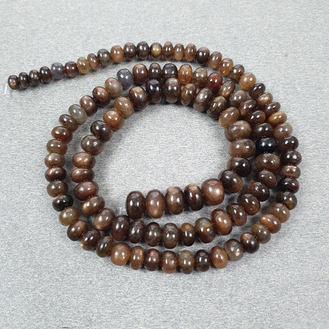 Golden Brown CHOCOLATE SAPPHIRE Gemstone Loose Beads : 94.60cts Natural Untreated Sapphire 14.5