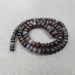 Silver Brown CHOCOLATE SAPPHIRE Gemstone Loose Beads : 77.25cts Natural Untreated Sapphire 12