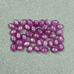 Rosemary Sheen PINK SAPPHIRE Gemstone Cabochon : 31.50cts Natural Untreated Sapphire Oval Shape Cabochon 6*4mm*3h 40pcs Lot For Jewelry