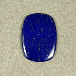 18.10cts Natural Untreated LAPIS LAZULI Gemstone Baguette Shape Cabochon 29.5*21mm*3h 1pc For Pendant