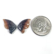 MULTI SAPPHIRE Gemstone Carving September Birthstone : Natural Untreated Bi-Color Sapphire Hand Carved BUTTERFLY Pair