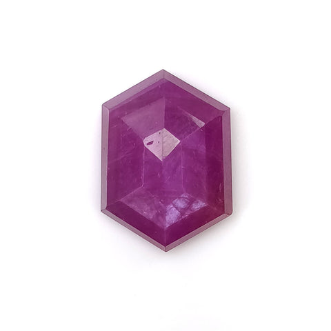 Raspberry SAPPHIRE Gemstone Step Cut : 9.40cts Natural Untreated Sheen Pink Hexagon Shape 15.5*11.5mm (With Video)