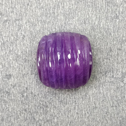 Purple Sapphire Gemstone Carving : 20.90cts Natural Untreated Unheated Sapphire Gemstone Hand Carved Uneven Shape 14mm