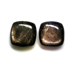 Golden Brown CHOCOLATE SAPPHIRE Gemstone : 10.50cts Natural Untreated Chocolate Sapphire Gemstone Cushion Shape Cabochon 10mm Pair