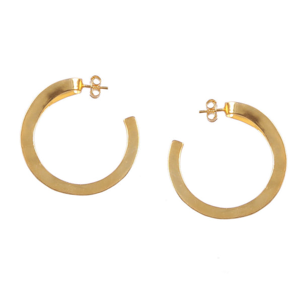 925 Sterling Silver Brass Yellow Gold Plated Bali Style Hoop Earring Push Back Closure Boho Handmade Unique Modern Fine Jewelry Gift for Her