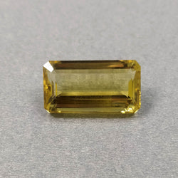 YELLOW CITRINE Gemstone Cut : 22.50cts Natural Untreated Unheated Citrine Gemstone Normal Cut Baguette Shape 24*13mm*13.5(h) 1pc For Jewelry