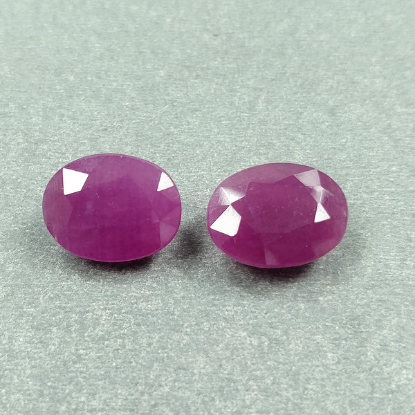 PINK SAPPHIRE Gemstone Cut : 18.90cts Natural Untreated Pink Sapphire Oval Shape Normal Cut 14.5*11mm*6(h) Pair For Earring