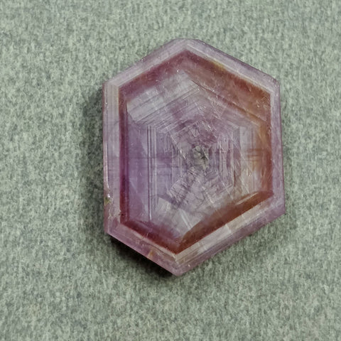 Rosemary Sheen PINK SAPPHIRE Gemstone TRAPICHE : 14.70cts Natural Untreated Sapphire Hexagon Shape Flat Slice 20*15.5mm 1pc For Ring/Pendant