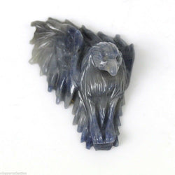 MULTI SAPPHIRE Gemstone EAGLE :91.20ct Natural Untreated Sapphire Gemstone Sculpture Hand Carved Eagle Face Figurine 48*34mm 1pc For Jewelry