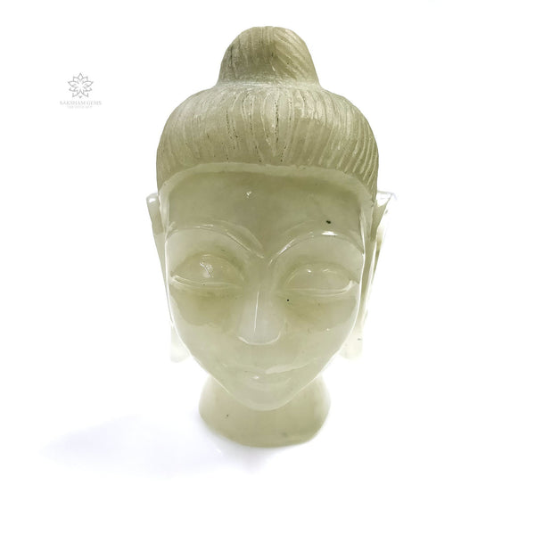 QUARTZ Gemstone Sculpture Figurine : 234.00gms Natural Untreated Quartz Gemstone Hand Carved BUDDHA Sculpture 83*53mm*50(h)mm