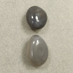 BOTSWANA AGATE Gemstone Tumble Cabochon : 85.35cts Natural Untreated Unheated Agate Uneven Shape Cabochon 20*22mm - 27*19mm 2pcs For Jewelry