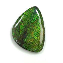 Rare Fire AMMOLITE Gemstone Cabochon : 104.85cts Natural Fossilized Shell Multi Color Ammolite Uneven Shape Cabochon 51*35mm 1pc For Jewelry