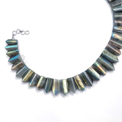 Rainbow Flashing LABRADORITE Gemstone Neclace : 13