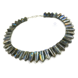 Rainbow Flashing LABRADORITE Gemstone Neclace : 14