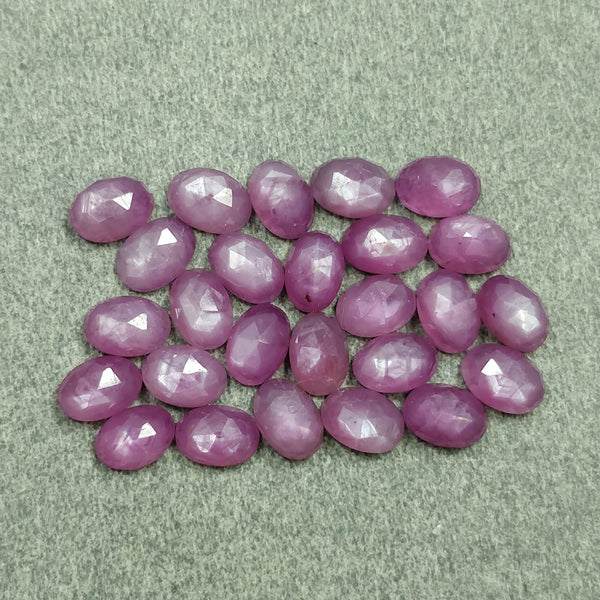 Raspberry Sheen PINK SAPPHIRE Gemstone Cut September Birthstone : 20.00cts Natural Untreated Sapphire Gemstone Oval Shape Rose Cut 6*4mm 26pcs Lot For Jewelry