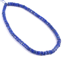 Necklace Small Circle Shape Natural Lapiz Lazuli Natural Gemstone Flat Tyre Flat Disc Shape Bead Handmade Boho Style Necklace